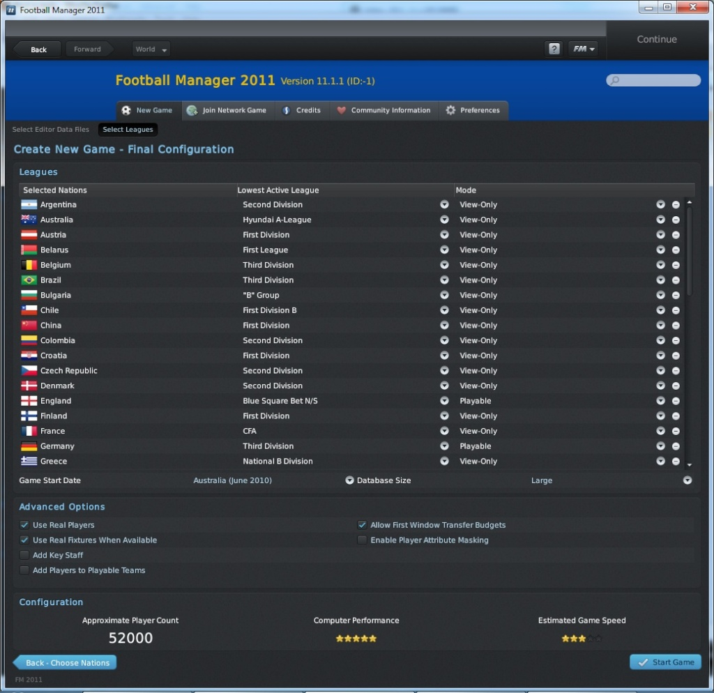 Football Manager 2011: van helsing's newest legacy League10