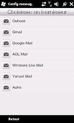 Configurer Outlook HD2 pour recevoir Mails MSN Screen10