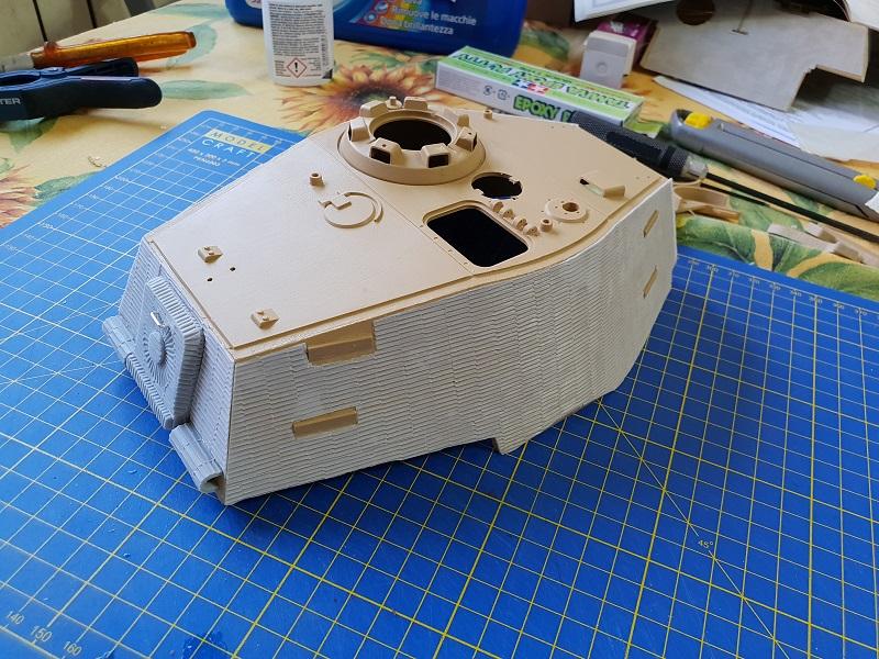 W.I.P King Tiger Tamiya full optional Kit di RegaHill Tb01910