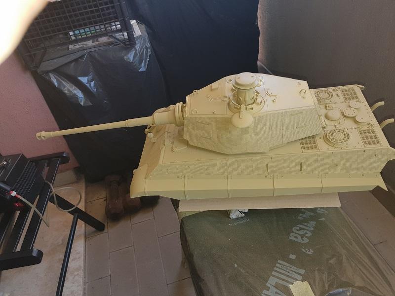 W.I.P King Tiger Tamiya full optional Kit di RegaHill Tb05310