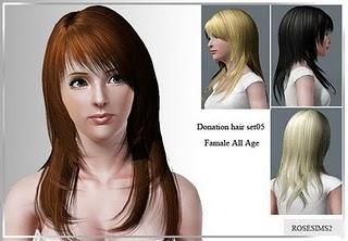 Rose Sims Hair Set 005-3 Rosesi14