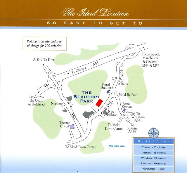 Map for Beaufort Park Hotel Beaufo10