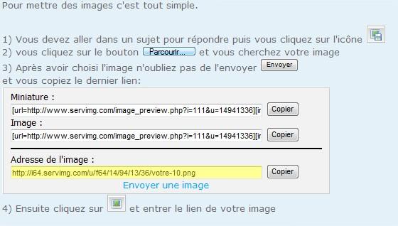 Comment insérer une image dans un message? Commen12