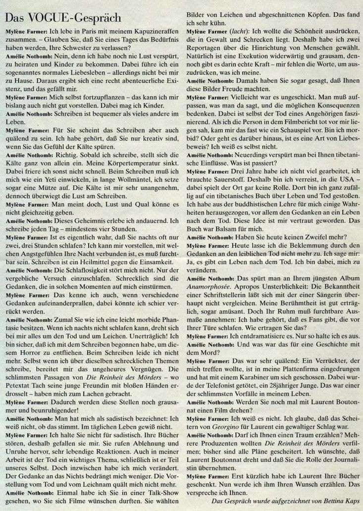 Vogue allemand (mars 1996) Mylene14