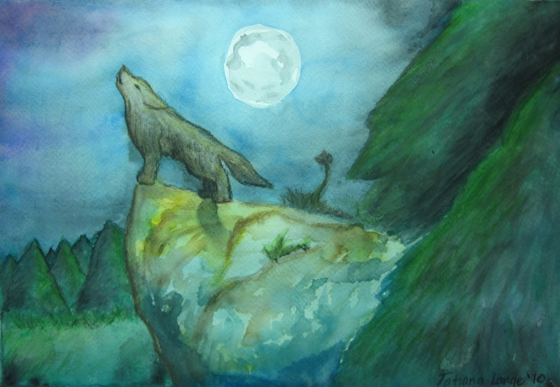 A Wolf Song (2nd Watercolour ) Img_0713