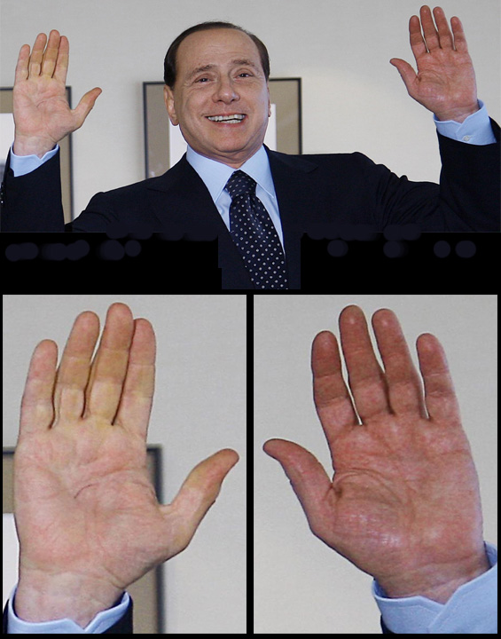SILVIO BERLUSCONI - The hands of the Prime Minister of Italy! Silvio12