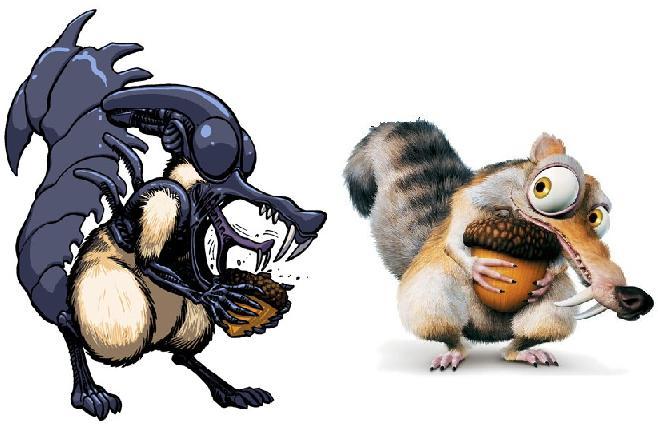 Galeria humoristica de Alien y Depredador Scrat210
