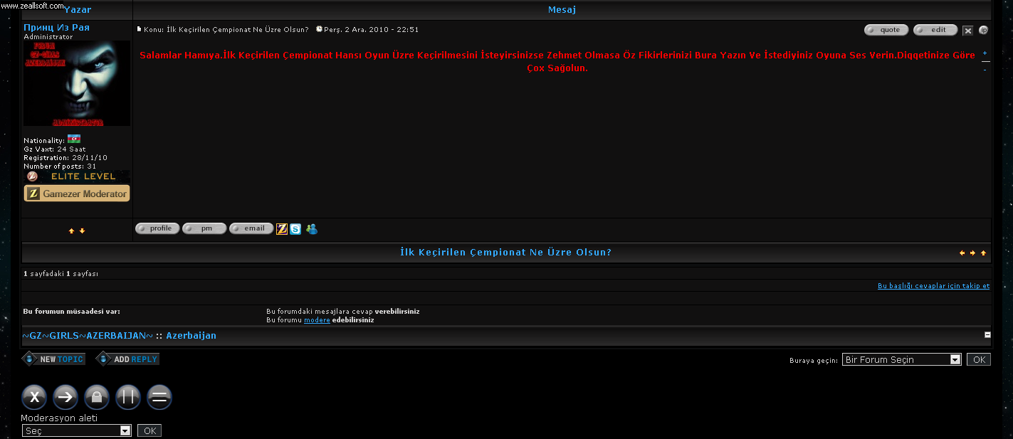 Moderator Statusları Frm10