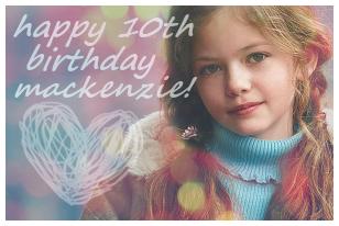 Parabéns Mackenzie!! Happyb10