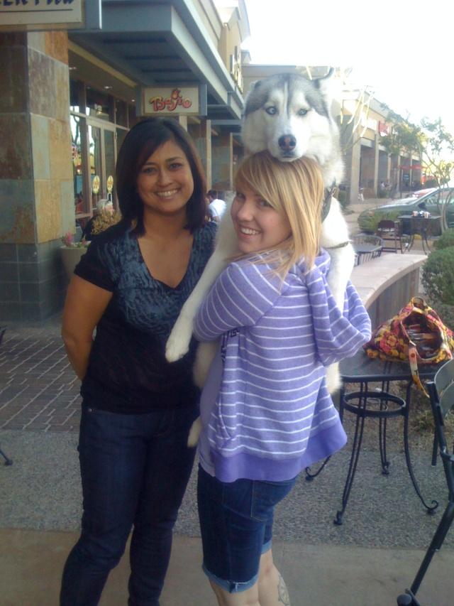 Me, Heather and Koda Iphone11