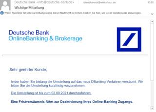 Gelogene Banknachrichten - bitte nicht anklicken E-mail10
