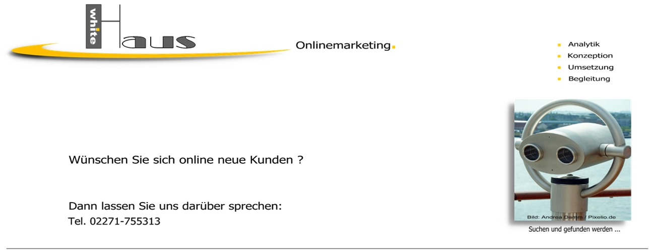white Haus Onlinemarketing - Content + Kommunikation