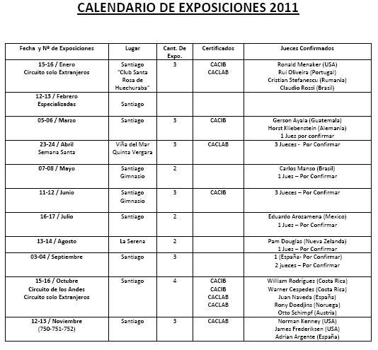 CALENDARIO 2011 EXPOSICIONES KENNEL CLUB CHILE Dibujo13