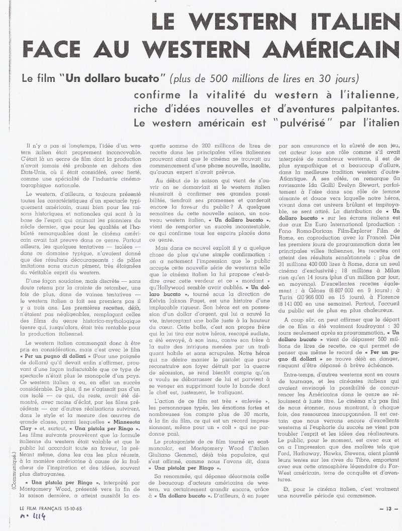 Le Dollar Troué (Un Dollaro Bucato) - 1965 - Giorgio Ferroni Commun10