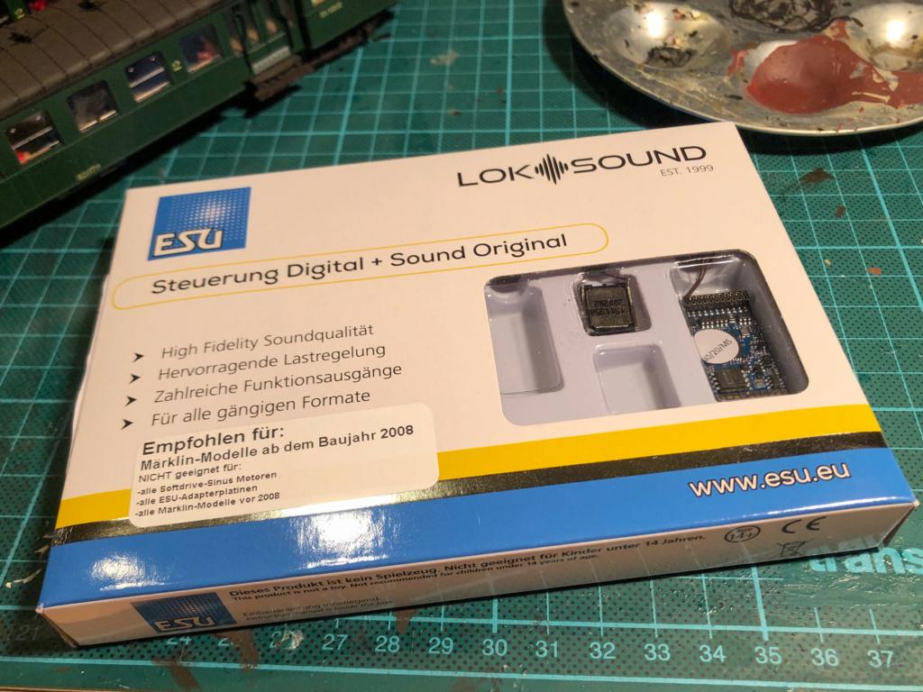 Digitalisation Märklin 37672 avec un ESU V5 Loksound Esu10