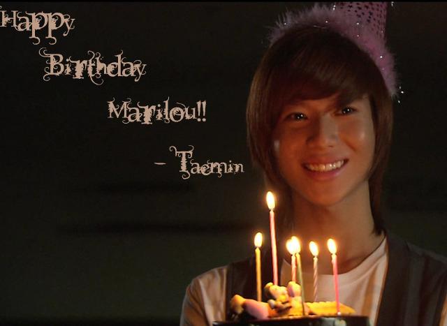 Mak~Tae's Birthday!! Taemin10