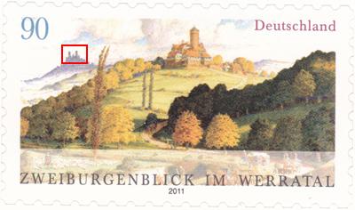 Neue Ausgabe 2 Burgenblick Werratal selbstklebend 2burge17