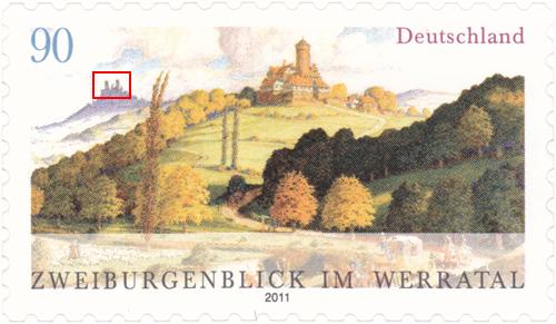 Neue Ausgabe 2 Burgenblick Werratal selbstklebend 2burge19