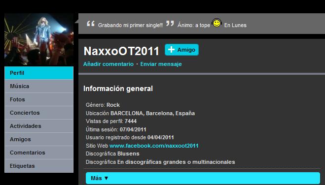 Naxxo cuelga un nuevo tema en su myspace Myspac11