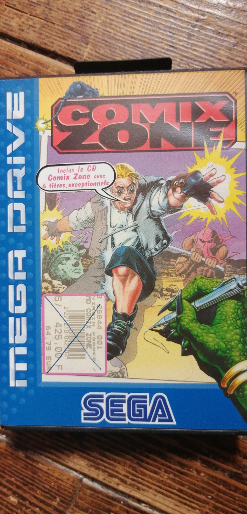 [Ech] Comix Zone MD complet comme neuf(boîte, cartouche, notice, CD)  Img_2020