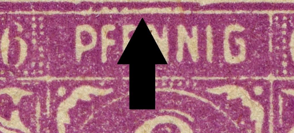 OPD Schwerin - 1. Freimarkenausgabe - Feldmerkmale der Wertstufe zu 6 Pfennig Mi_nr_29