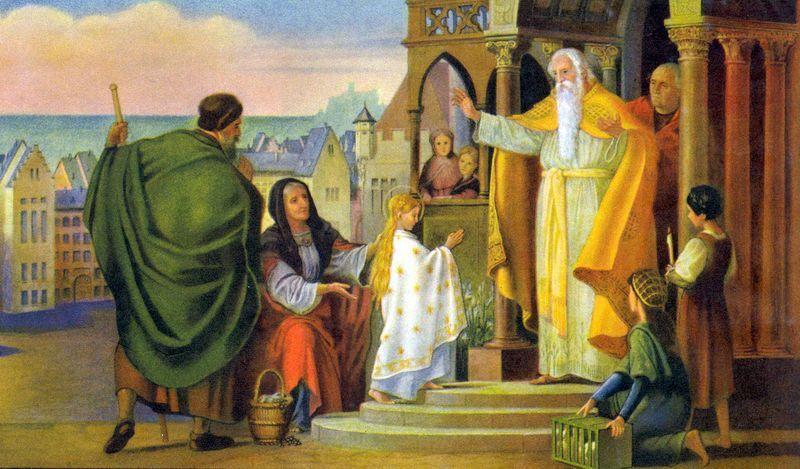 Présentation de la Vierge Marie au Temple de Jérusalem. 82dcc310