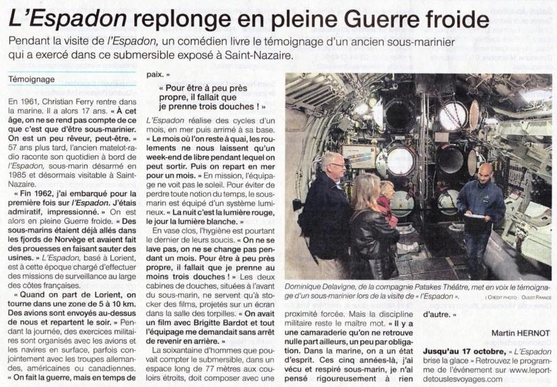 [ Les musées en rapport avec la Marine ] L'Espadon à St Nazaire L_espa10