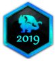All year badges 2001-2020 201910