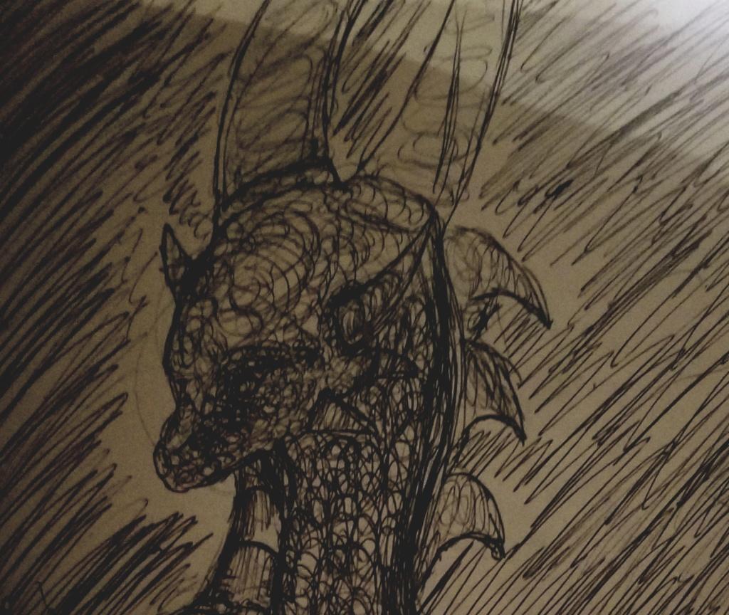 dragon pen doodles  20200214