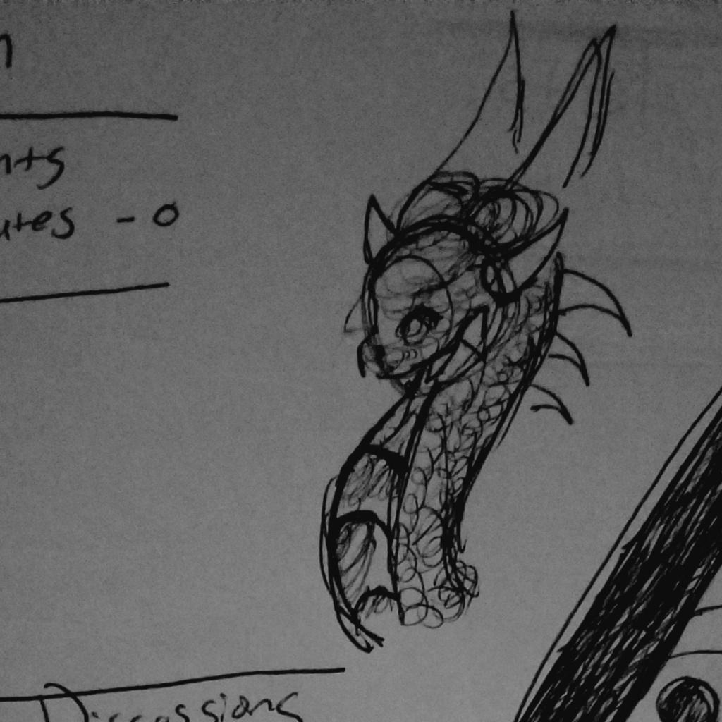 dragon head doodle 20200224