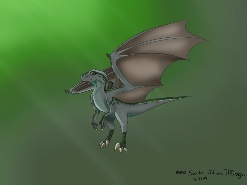 Contest #6 - Raptor Dragon - Paper or Digital C10