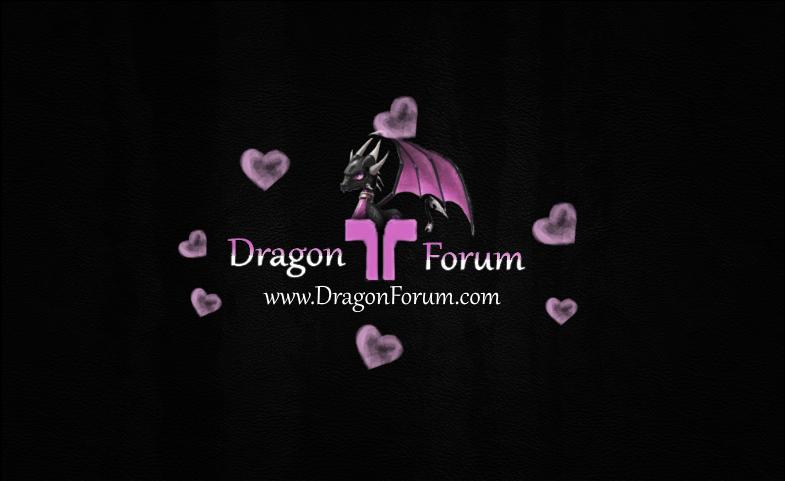 Dragon Forum Logo (Valentines Edition)  Hearts11