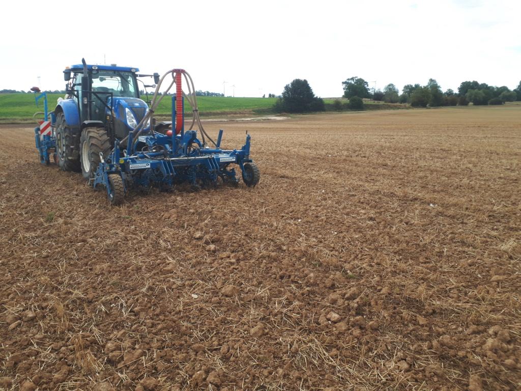 Préparer le lit de semences pour le colza en non labour.  20200810