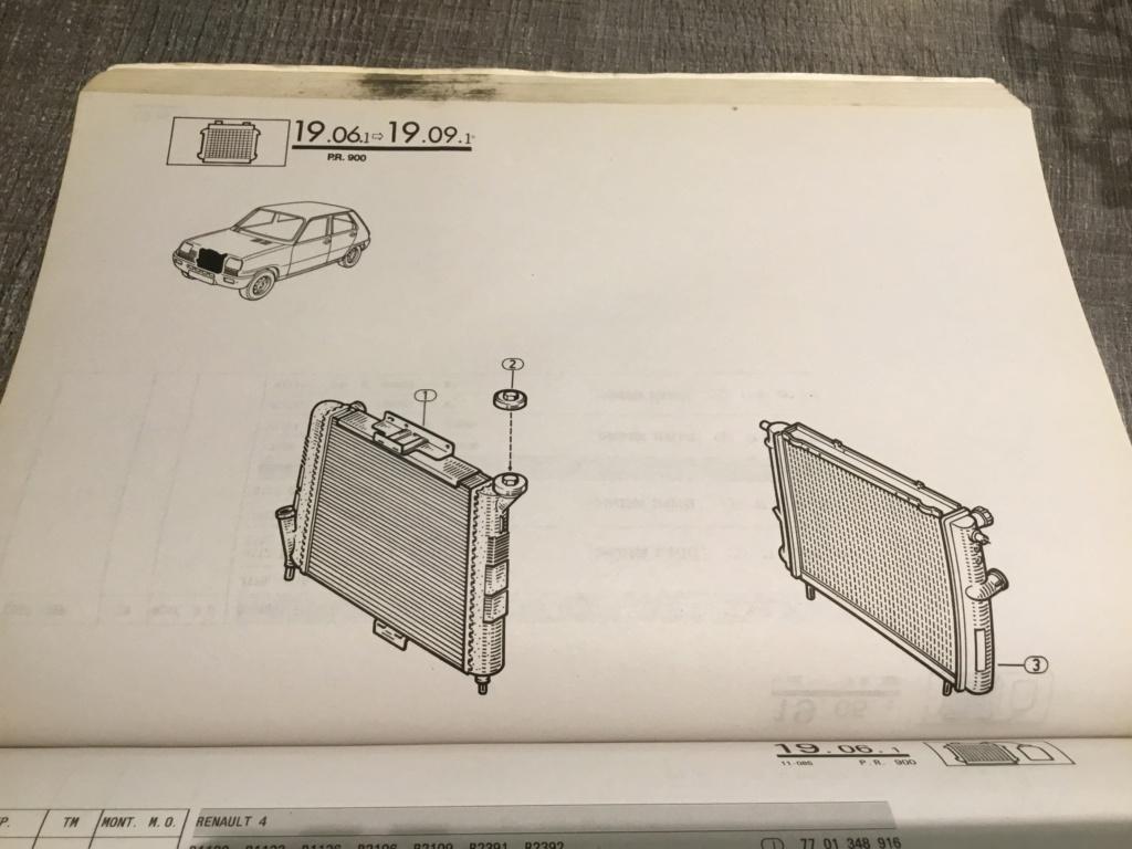 Références radiateur moteur r25 tous types B44c4810