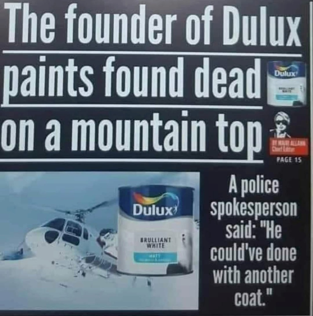 what sort of jokes can I get away with? [3] - Page 34 Dulux10