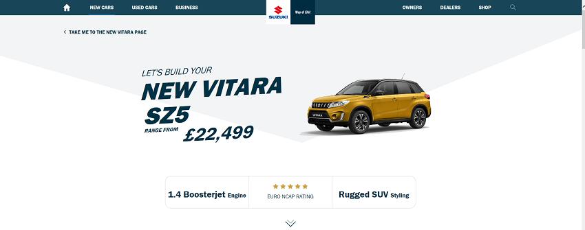 2018 /2019 vitara on uk web site  Sz5fl11
