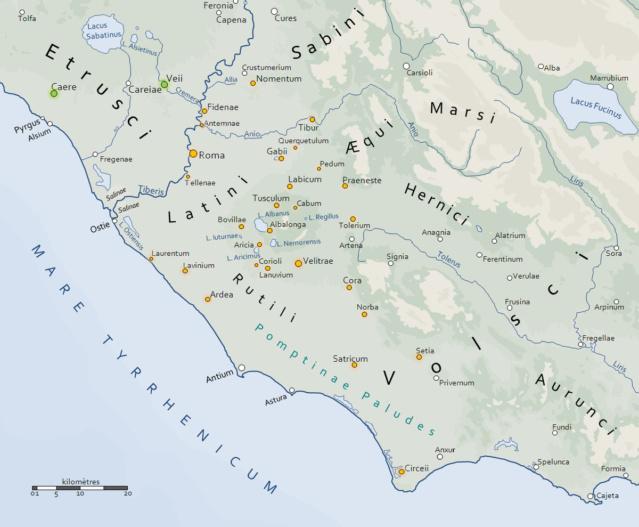 Extension de l'influence romaine dans le Latium (154 AUC) 1200px10