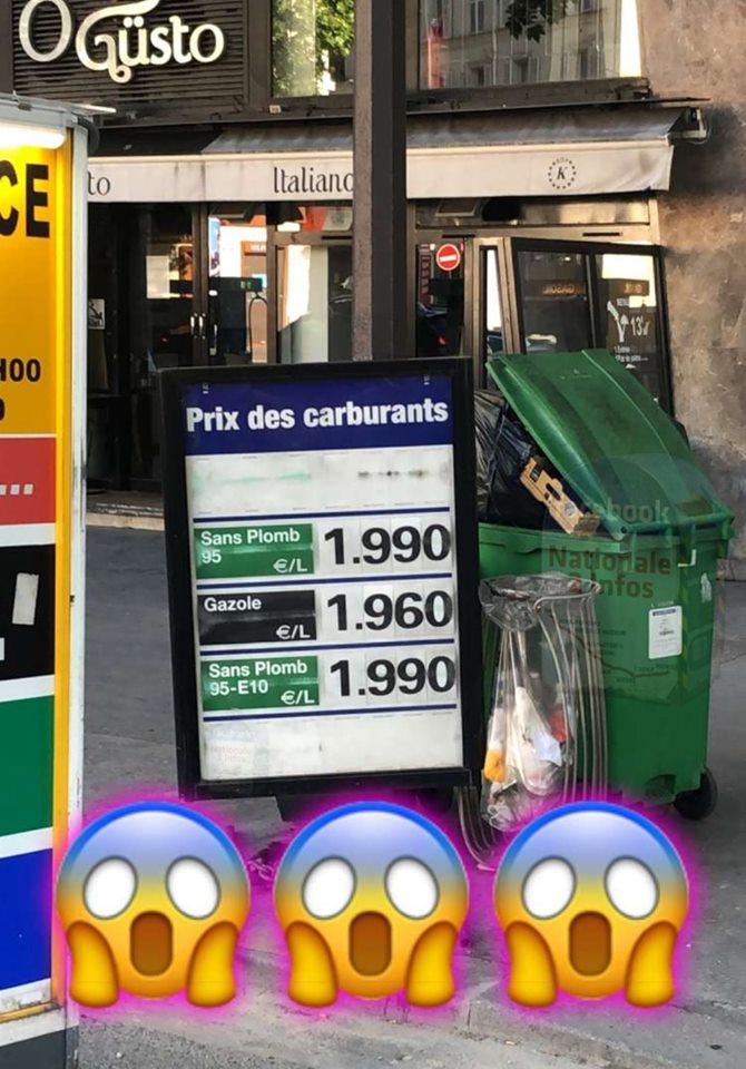 Y paraît que les prix des carburants montent Infox10
