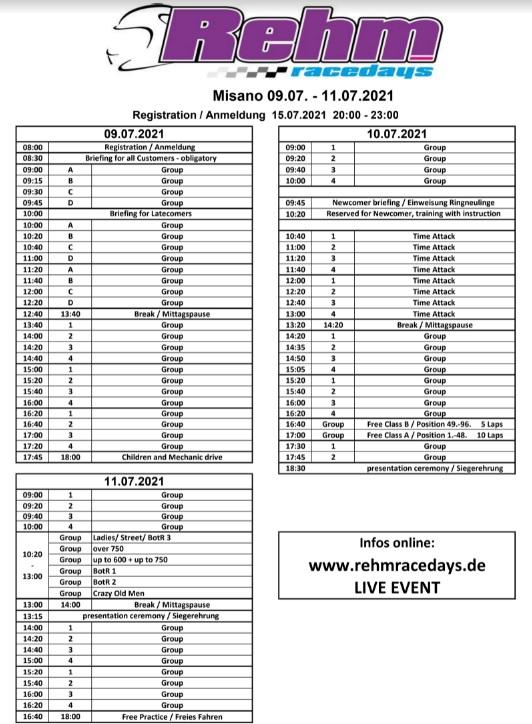 Misano - 9/10/11 Juillet 2021 - REHM - 450€ Planni10