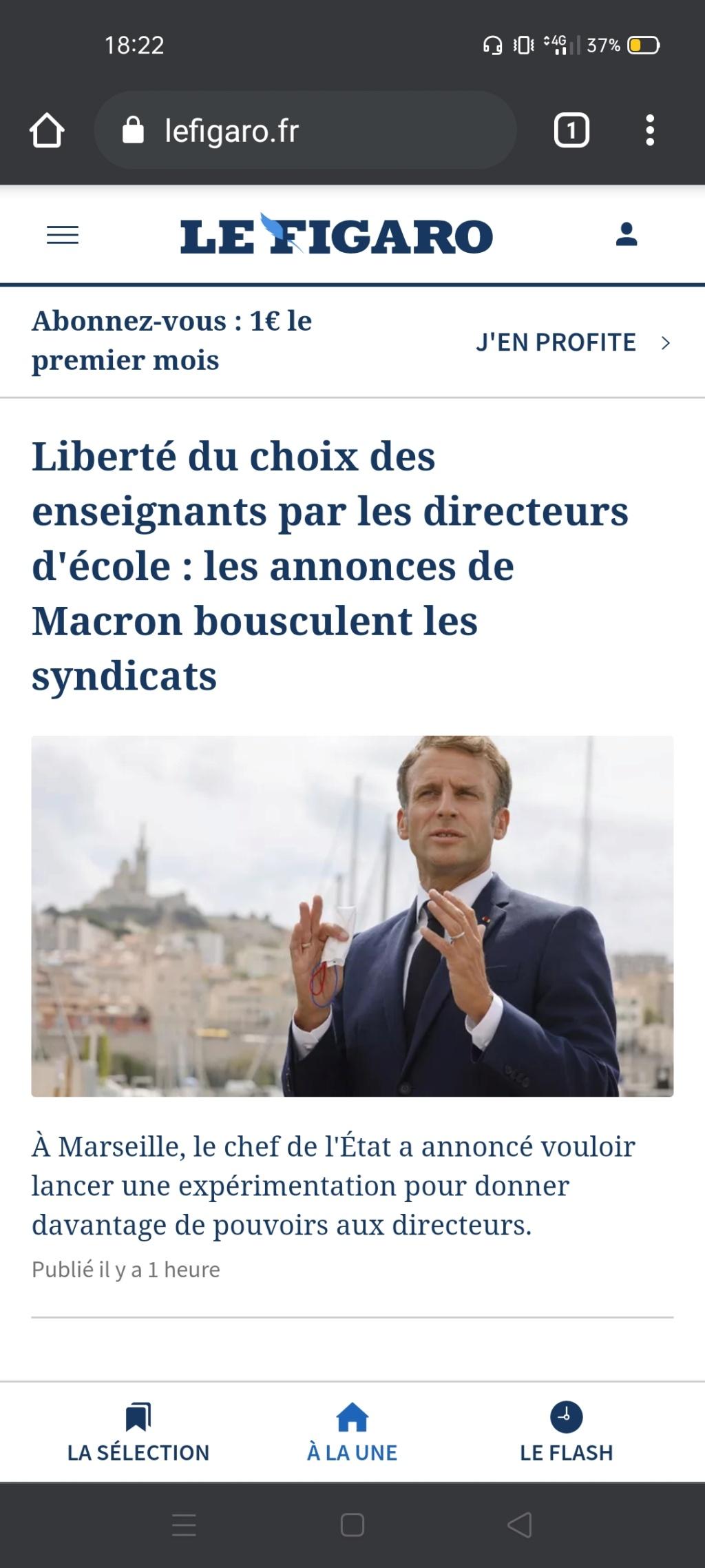 E. Macron veut la possibilité, pour les directeurs d'école, de choisir leurs enseignants - Page 4 Screen41
