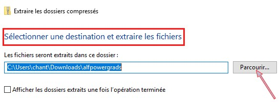 Décompresser un fichier ZIP Windows 7 et 10 Parcou10