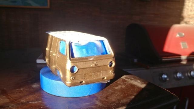 3D Printed Chevy Van miniature Model111