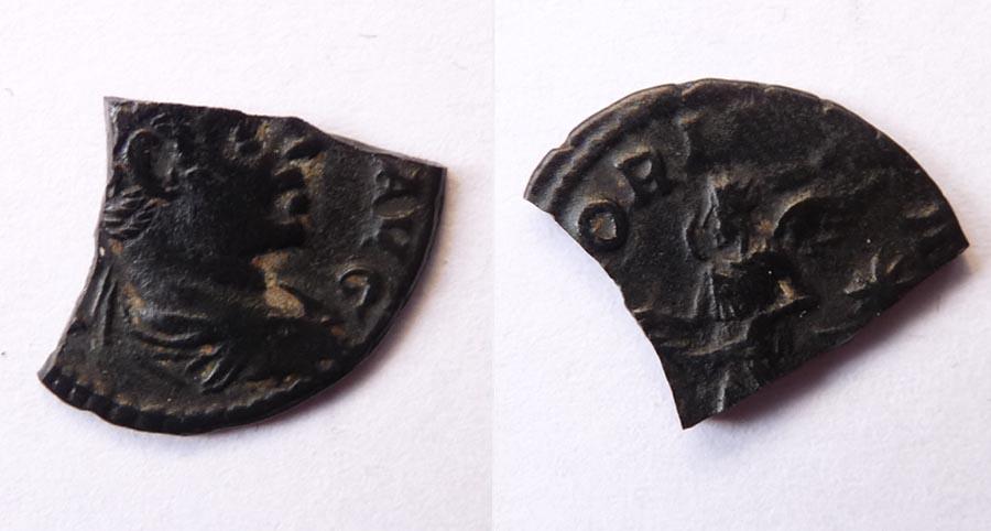 Demie monnaie en bronze Geta10