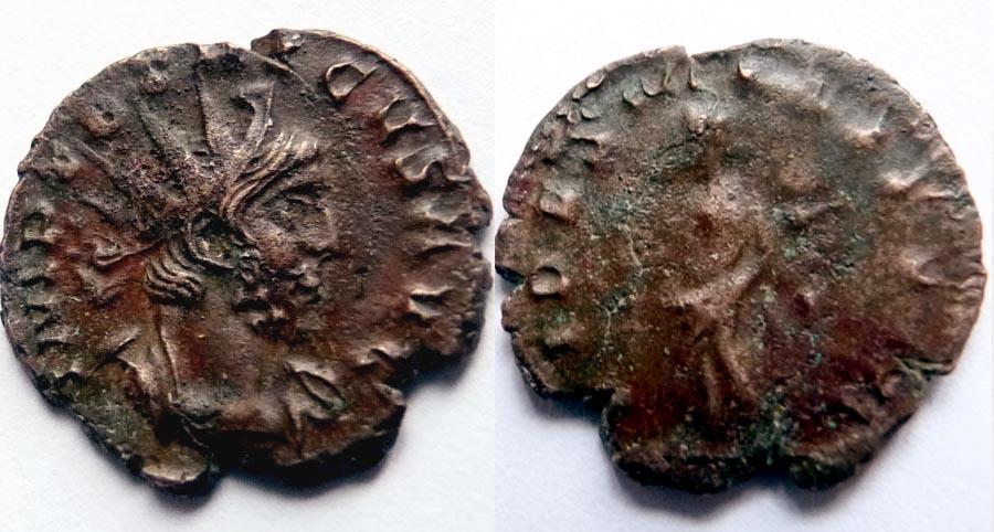 Identification Romaine Tetricus revers  SPE-S - AVGG. . ric  270 R1 Tetric10