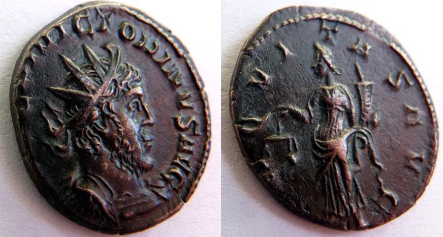 Identification Romaine Tetricus revers  SPE-S - AVGG. . ric  270 R1 Victor10