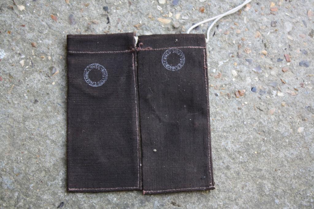 Petit sac toile avec tampon militaire Img_4611