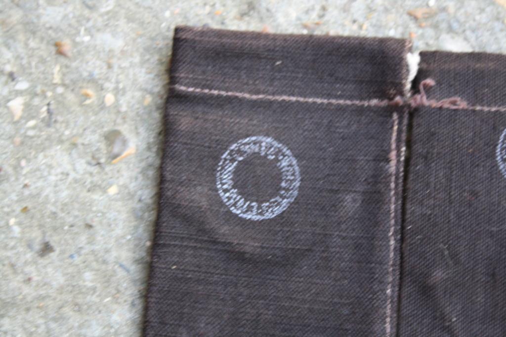 Petit sac toile avec tampon militaire Img_4613