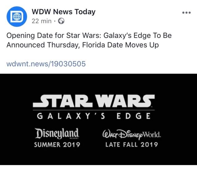 [Disney's Hollywood Studios] Star Wars: Galaxy's Edge (29 août 2019) - Page 13 8c4a8110