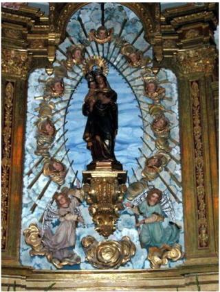 Medalla de la Mare de Deu de las Malaltias, Marsà, primera mitad siglo XX. (MAM) Altar10
