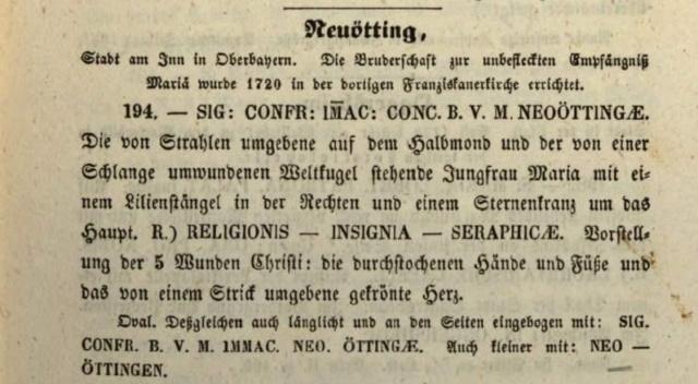 Inmaculada Concepción de Neuötting / Estigmas de San Francisco de Asís - MR846  Beierl11